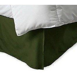 Super Soft And Elegant 1Pc Bed Skirt With 6 Drop Length 800 Thread Count Queen 100 Pima Cotton Moss Solid By Hothaat