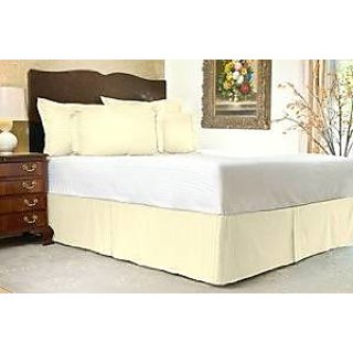 Super Soft And Elegant 1Pc Bed Skirt With 7 Drop Length 800 Thread Count Full 100 Pima Cotton Lavender Stripe By Hothaat