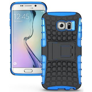YGS Tough Rugged Dual Layer Back Case with Kickstand for Samsung Galaxy S7 Edge-Blue