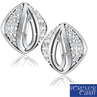 0.26ct Natural White Diamond Earring Stud 925 Sterling Silver Earrings ER-0124S
