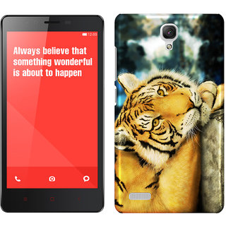 WOW Printed Back Cover Case for Redmi Note 4G