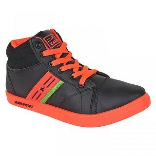 Armado Footwear Orange  Black-409 Casual Shoes.