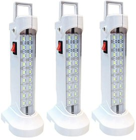 Grind sapphire 10 w (578) Rechargeable Emergency Light set of-3