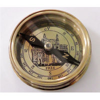 TARDITIONAL LOOK GATEWAY OF INDIA BRASS POCKET COMPASS - HCF1053