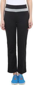 Vimal-Jonney Black Cotton Blend Trackpant For Women ( Pack Of 2) (F2BLACK-F3BLACK-02)