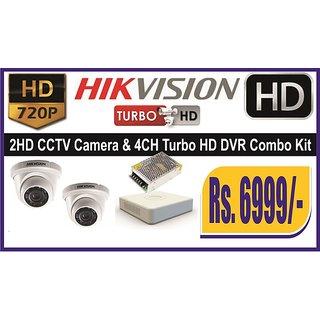 HIKVISION 2HD CCTV Camera  4CH HD Tribrid DVR Combo Set