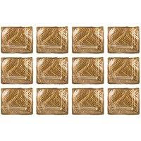 Annapurna Sales Golden Satin Small Saree Cover - Set Of