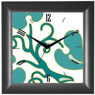 Cartoonpur Analog Square 10 Inch Colourful Wall Clock With Glass(CPSB11670)