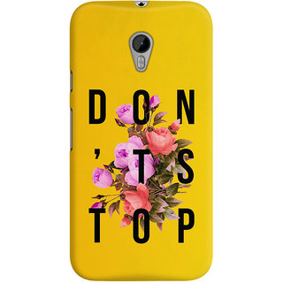 The Fappy Store dont stop flower poster  Back Cover for Moto G3