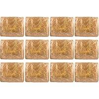 Annapurna Sales Golden Satin Small Saree Cover - Set Of - 92392572