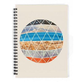 The Fappy Store Natural-Geodesic Notebook