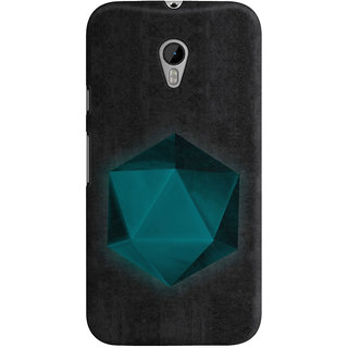 The Fappy Store spatial geometry Black Back Cover for Moto G3