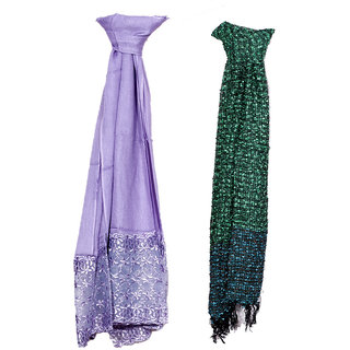 IndiWeaves Women Soft Luxurious Viscose Stole for All Seasons- Set of 2-8027680285-IW-ST