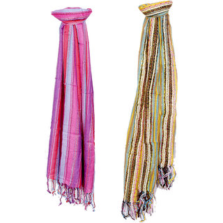IndiWeaves Women Soft Luxurious Viscose Stole for All Seasons- Set of 2-8029780304-IW-ST