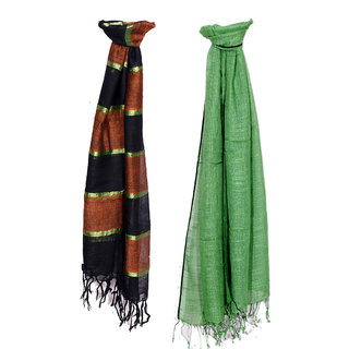 IndiWeaves Women Soft Luxurious Viscose Stole for All Seasons- Set of 2-8030180251-IW-ST