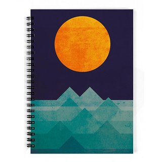 The Fappy Store The-Ocean-The-Sea-The-Wave-Night-Scene Notebook