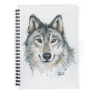 The Fappy Store Wolf-Watercolor-Painting Notebook