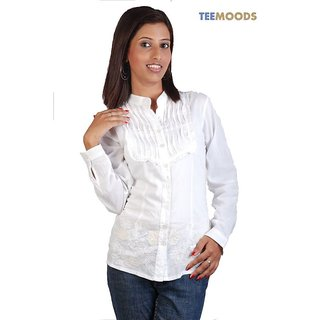 Teemoods  Embroidered White Top