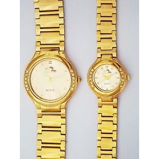Bromstad Analog IPG Gold Plating Couple Watch 643 P-G With Gift Box