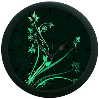 AE World Black Tree Wall Clock (With Glass)