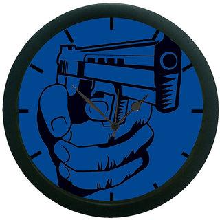 AE World Shoot Gun Wall Clock (With Glass)