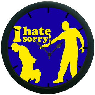 AE World I Hate Sorry Wall Clock (With Glass)
