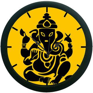 AE World Ganesha Wall Clock (With Glass)