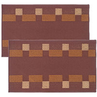 Status PVC Large Bath Mat Bath Floor Mat  Brown