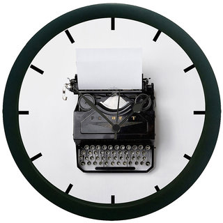 AE World Type Writer 3D Wall Clock (With Glass)