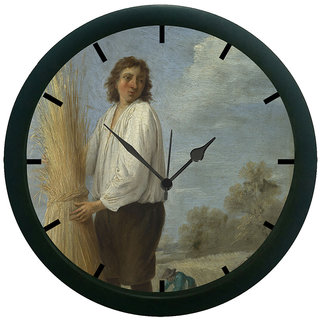 AE World Man Portrait 3D Wall Clock (With Glass)