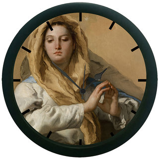AE World Lady Portrait 3D Wall Clock (With Glass)