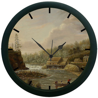 AE World River 3D Wall Clock (With Glass)