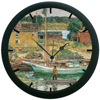 AE World Vintage Man Rowing 3D Wall Clock (With Glass)