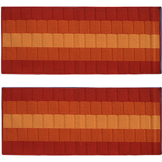 Status Red Polyproplene Rugs ( 22X55 Inch)