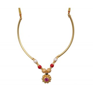 Sushito Designer Chand Pipe Thushi Necklace JSMJWNL0302