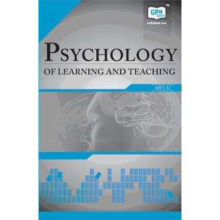 MES52 Psychology of Learning and Teaching (IGNOU help book for MES-052 in English Medium)