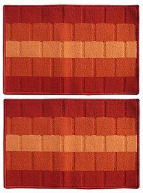 Status Maroon Polyproplene Door Mat ( 15X23 Inch) Buy 1 Get 1