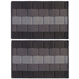 Status Grey Polypropylene Door Mat 58 cm X 38 cm BUY 1 GET 1
