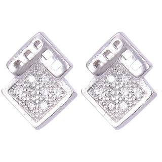 Abhooshan Unique and trendy Pair of cubic zircon stud in 925 silver