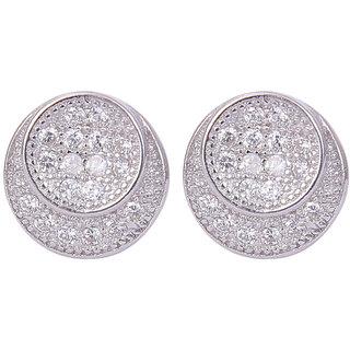 Abhooshan designer Pair of cubic zircon stud in 925 silver