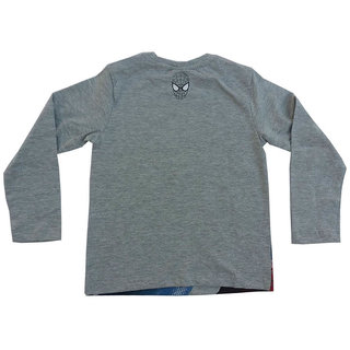 Snoby Boys full sleeves T-shirt- Grey(SBY1001)