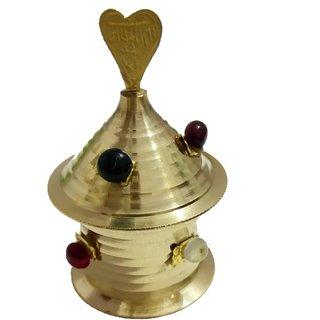 Traditional Handmade Brass Kumkum Box