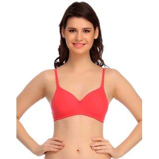 Clovia Red Blend Solid T-Shirt Bra (BR0407P0430B1)