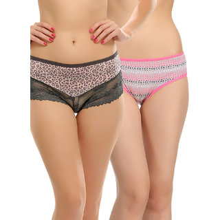 Clovia Multicolor Solid Panty (Set Of 2) (COMBOPN59)