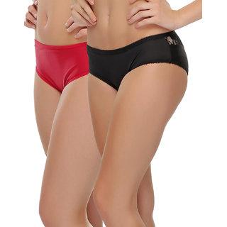 Clovia Multicolor Solid Bikini (Set Of 2) (COMBOPN62)