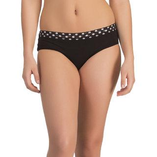 Clovia Black Solid Bikini (PN0589P13)