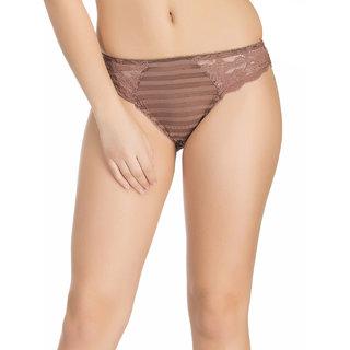 Clovia Brown Solid Bikini (PN0600P06)