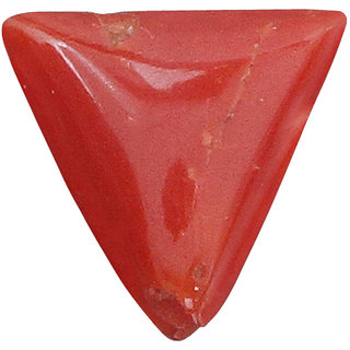 Brahmand Gems  Jewels 3.05ct Triangular Orange-Red Coral Birthstone Gemstone