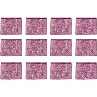 Annapurna Sales Purple Satin Single Saree Cover - Set O
