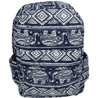 Very high quality Canvas Bagpack  School bag Elephant Design blue
